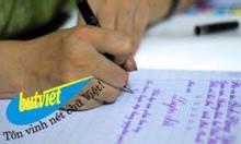 Chiêu sinh lớp Luyện chữ đẹp dành cho mọi đối tượng