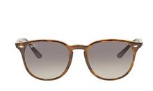 Mắt kính #Ray Ban Highstreet Grey Gradient Round Unisex Sunglasses