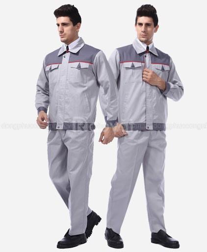Đồng phục bảo hộ nhân viên dầu khí in logo theo yêu cầu