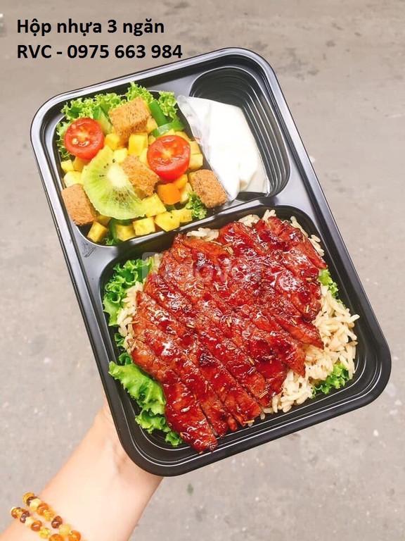 Phân phối mẫu hộp nhựa đen đựng thực phẩm tại TP.HCM