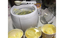 Máy làm kem gia đình size lớn 1 lít tự động làm lạnh hoàn toàn