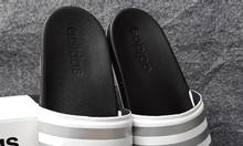 Adidas Cloudfoam Plus Sample màu đen đế trắng quai trắng sọc bạc