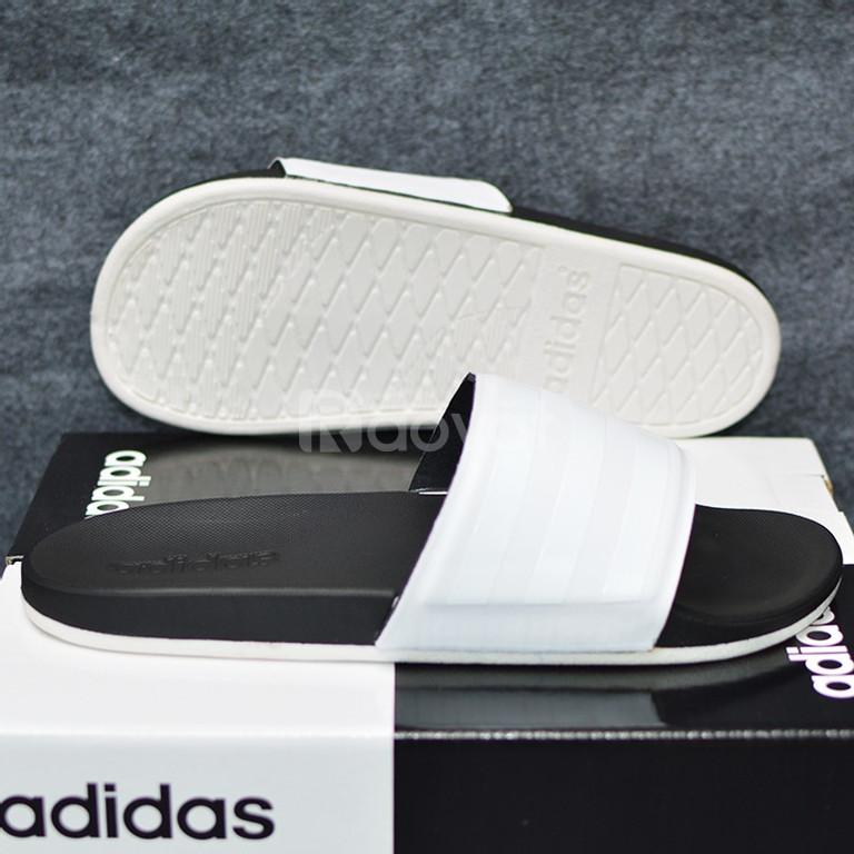 Adidas Plus Cloudfoam Sample màu đen đế trắng quai trắng sọc trắng