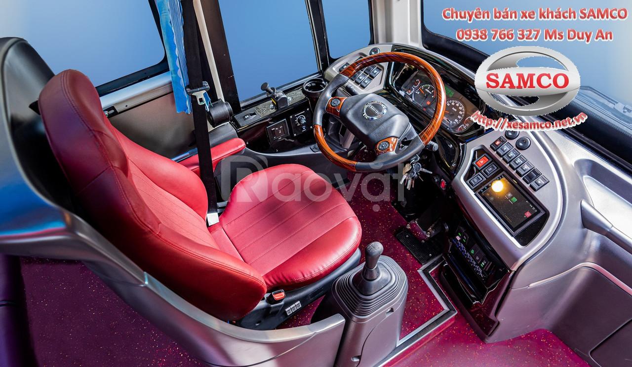Bán xe khách Samco Growin 29 chỗ ngồi bầu hơi máy sau động cơ Isuzu