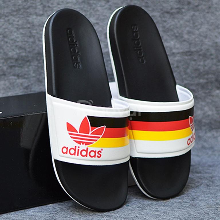 Adidas Cloudfoam Sample màu đen đe trắng sọc đen đỏ vàng