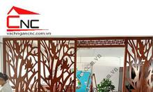 Vách ngăn phòng khách vách gỗ trang trí sang trọng 2020