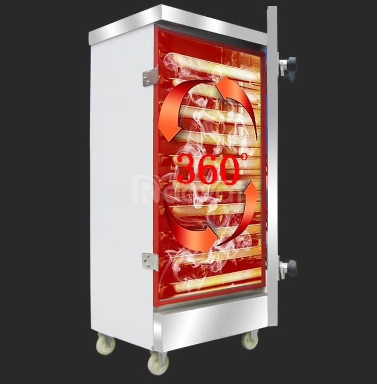 Tủ hấp xúc xích 6 khay gas điện có điều khiển
