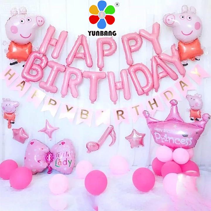 Bong bóng trang trí sinh nhật heo Peppa đáng yêu