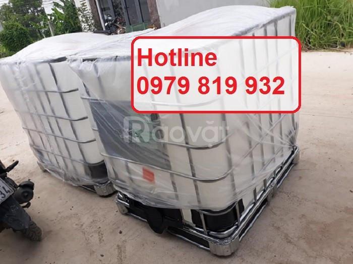 Bán thùng nhựa vuông, thùng nhựa IBC 1000l, tank nhựa vuông