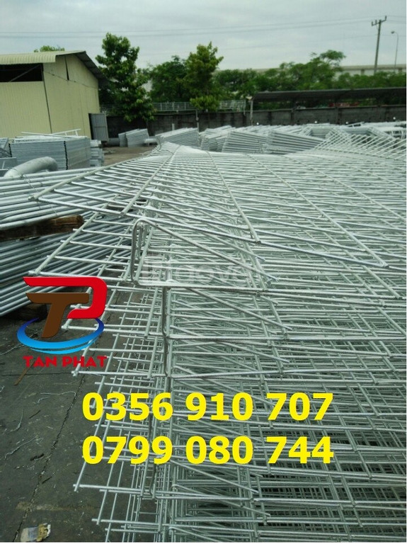 Hàng rào lưới thép hàn, hàng rào chắn sóng, hàng rào kho D5,D6