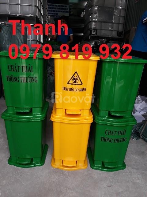 Cung cấp thùng rác đạp chân y tế 20 lít màu vàng