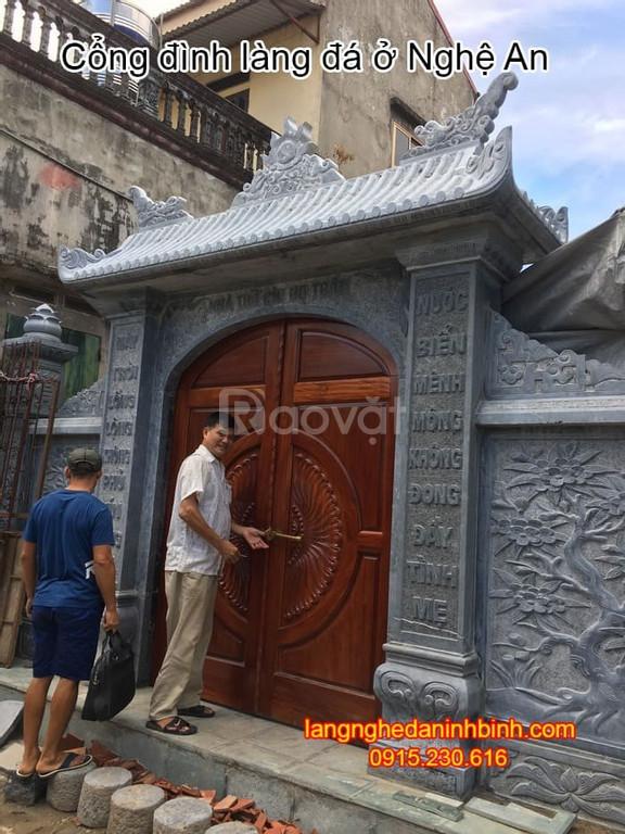 Cổng đình làng đẹp – Địa chỉ xây dựng cổng đình làng đẹp tại Nghệ An