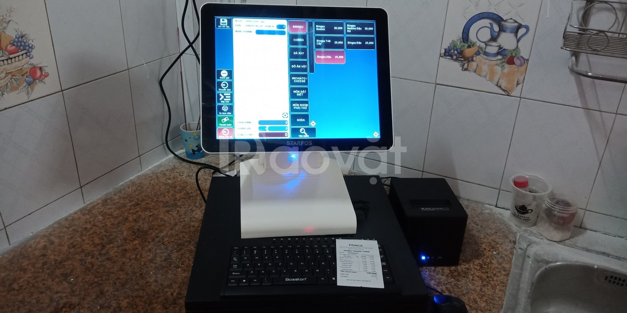 Bán bộ máy tính tiền giá rẻ cho quán ăn vặt tại BMT