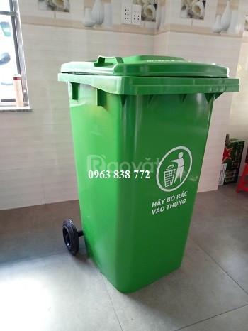 Thùng rác nhựa hdpe 240 lít dùng ngoài môi trường  (ảnh 1)