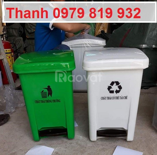 Bán thùng rác đạp chân y tế 15l 20l màu vàng