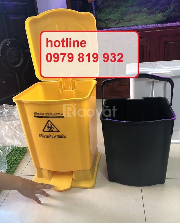 Bán thùng rác, thùng đựng rác đạp chân y tế 15l, 20l