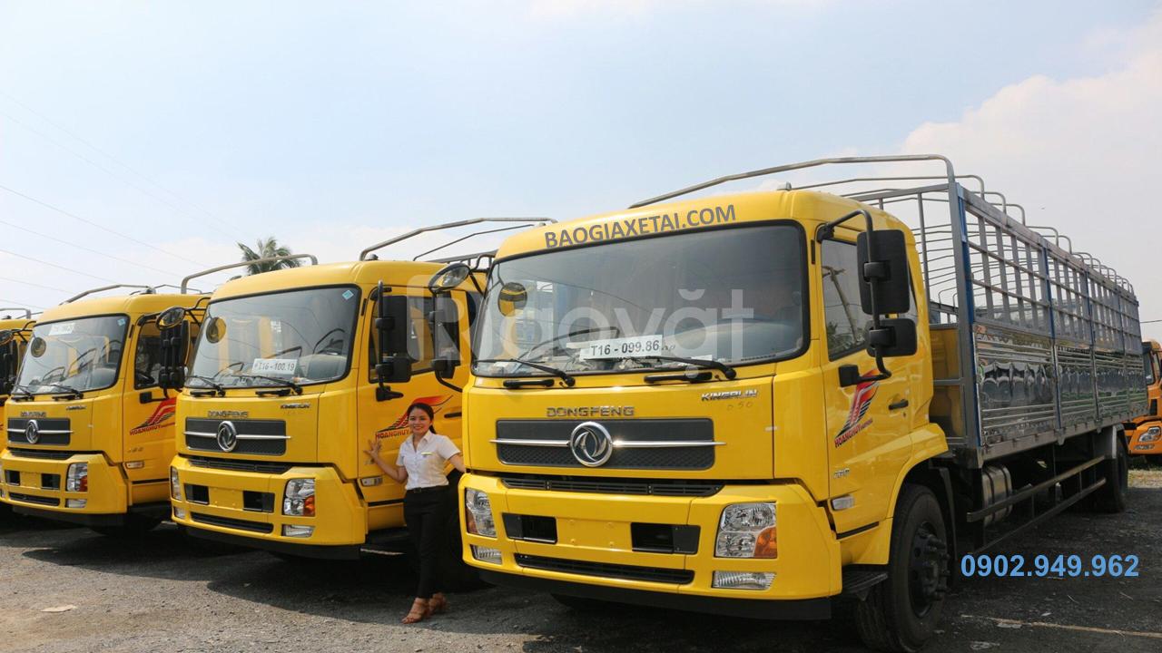 Giá xe tải Dongfeng 9 tấn thùng 7m5 bảng giá 06/2020