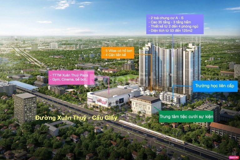 Căn 3PN tầng trung, view quảng trường, hướng Nam mát dự án Mipec Rubik