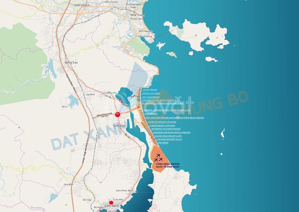 Bán đất đường Đinh Tiên Hoàng, Cam Lâm full thổ cư giá chỉ từ 11 triệu