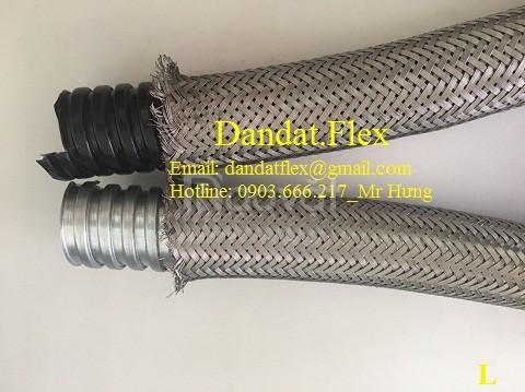 Ống ruột gà inox 304, ống thép mềm chịu nhiệt cao, ống ruột gà