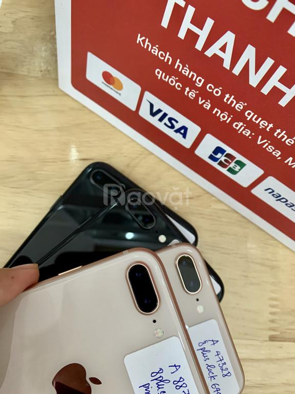 Iphone 8plus bản lock 64gb máy đẹp, pin trâu, nguyên áp