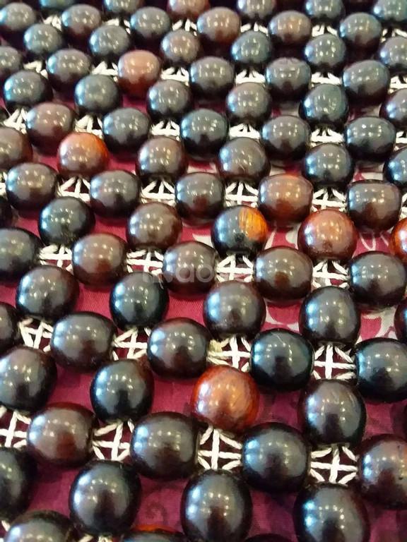 Chiếu hạt gỗ trắc hạt 12ly - 1,6mx2m