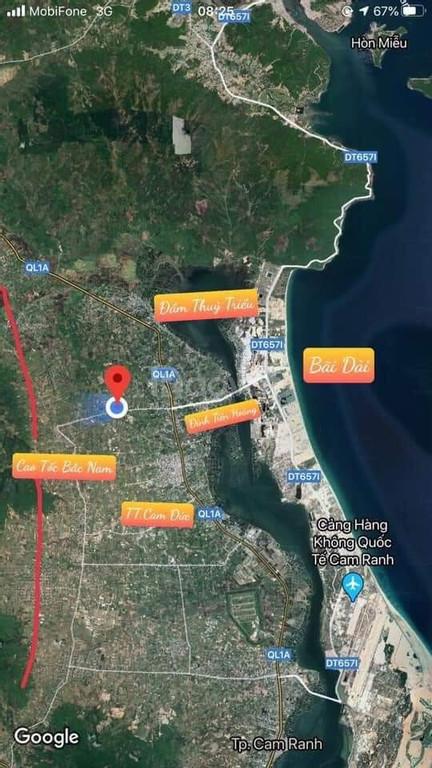 Cần bán lô đất full thổ cư đường Đinh Tiên Hoàng, Cam Lâm, Khánh Hòa