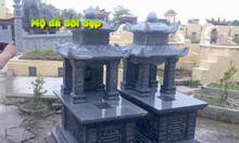 Mẫu mộ đôi bằng đá kích thước chuẩn phong thủy