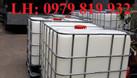 Bán thùng nhựa đựng hóa chất 1000l có khung sắt (ảnh 1)