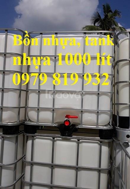 Bán thùng nhựa đựng hóa chất 1000l có khung sắt (ảnh 5)
