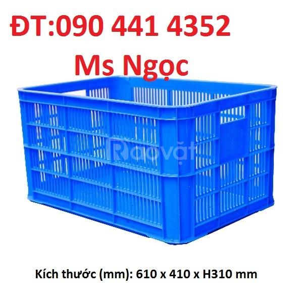 Sóng nhựa 1T đựng hàng hóa công nghiệp,rổ nhựa 3T9 công nghiệp
