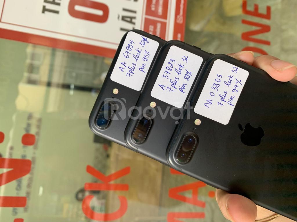 Iphone 7plus bản lock 32gb đẹp, keng áp, pin tốt