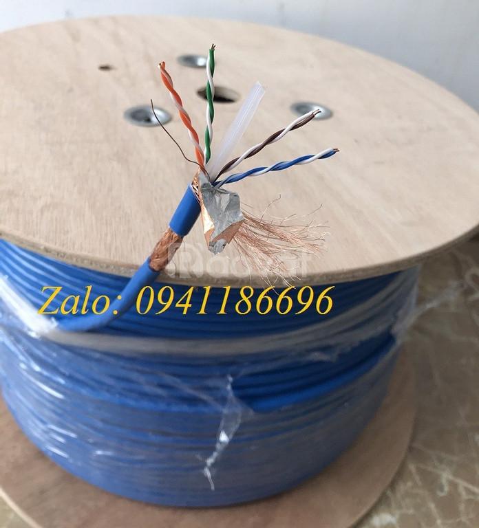 Cáp mạng Cat7 S/FTP bọc đồng lưới thép chống nhiễu