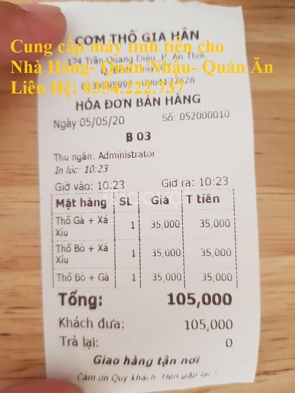 Máy tính tiền cho Quán ăn  tại Bình Thuận giá rẻ (ảnh 5)