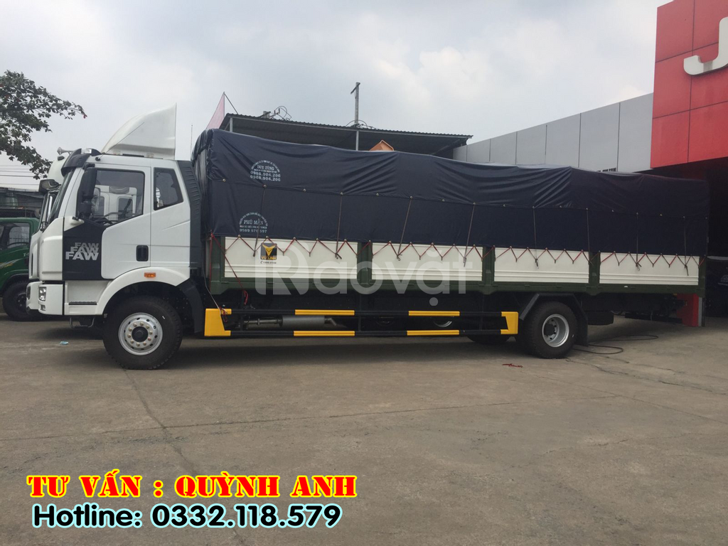 Xe tải FAW thùng dài 9m7, 7t25