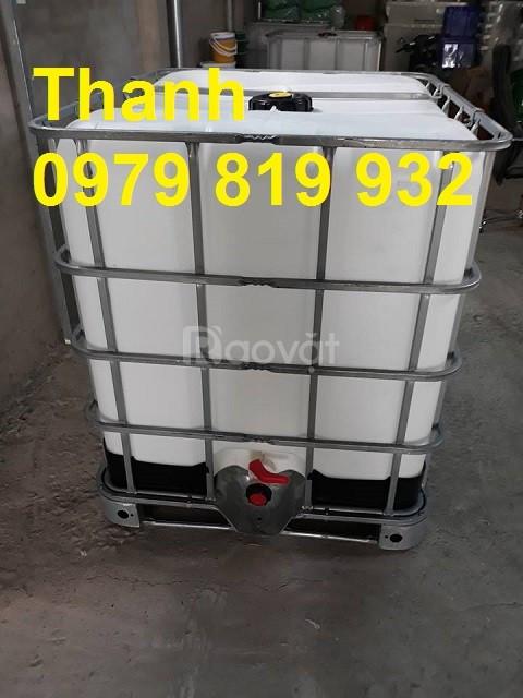 Bán thùng nhựa đựng hóa chất 1000l có khung sắt (ảnh 4)