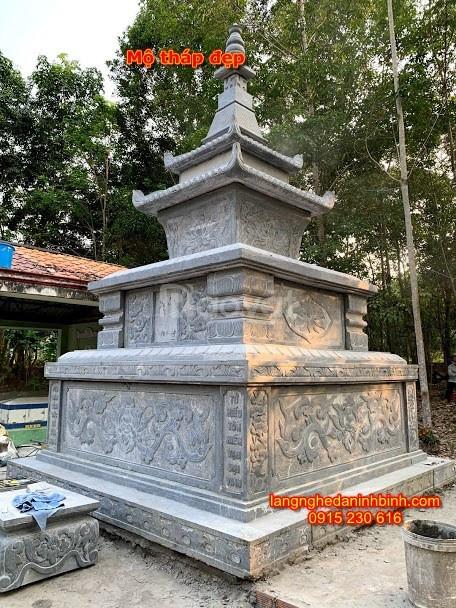 Mộ tháp đẹp 09 mẫu mộ tháp đá đẹp hiện nay