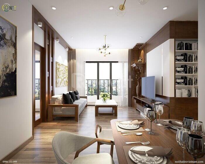Cho thuê căn hộ Goldseason 2 phòng ngủ giá tốt full nội thất