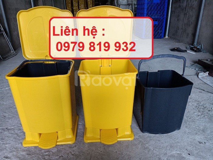 Bán thùng rác đạp chân y tế trong bệnh viện, chuyên phân loại rác