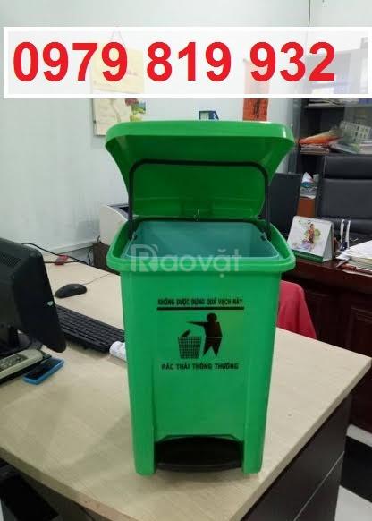 Bán thùng rác y tế đạp chân 15 lít 20 lít có in logo y tế