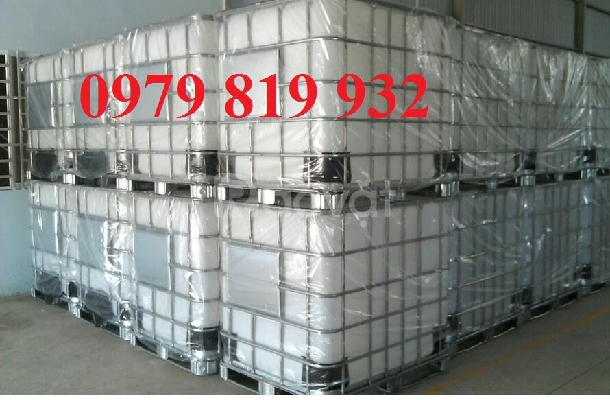 Cung cấp bồn nhựa vuông 1000l có khung sắt, tank IBC 1000l