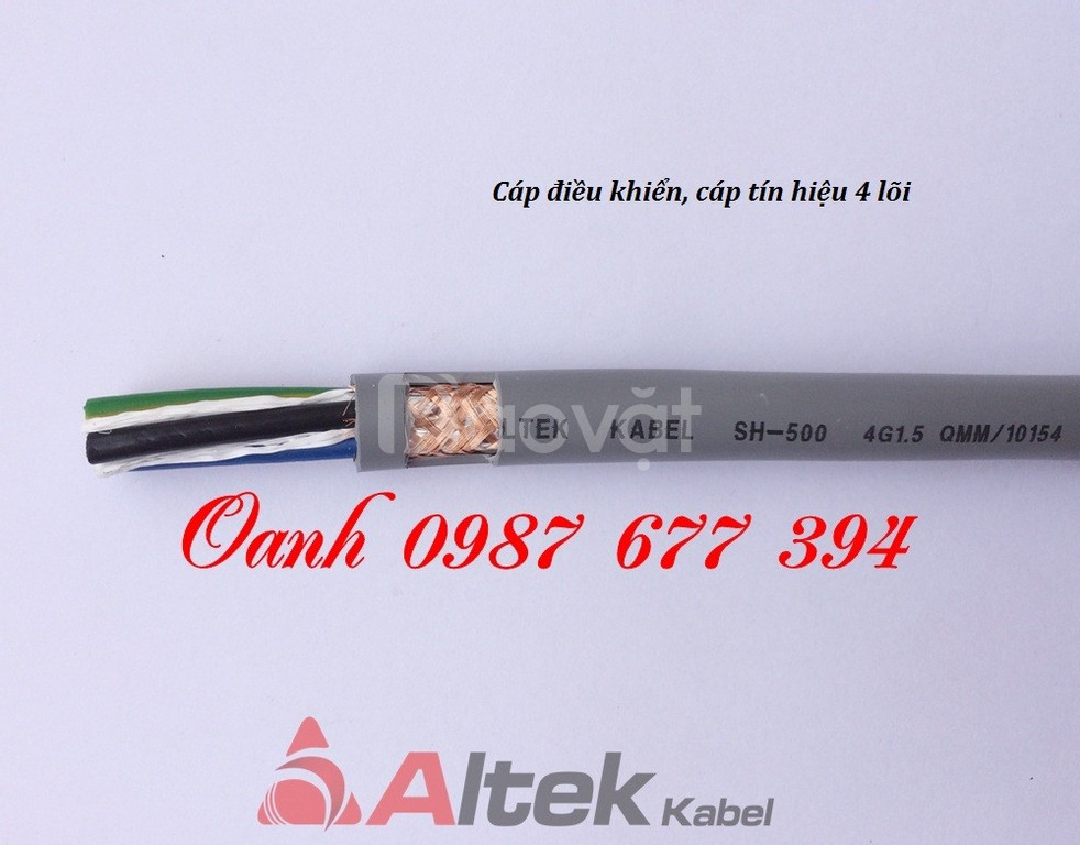 Dây cáp điện 4 lõi, dây tín hiệu 4 lõi, dây cáp điều khiển 4 lõi chống