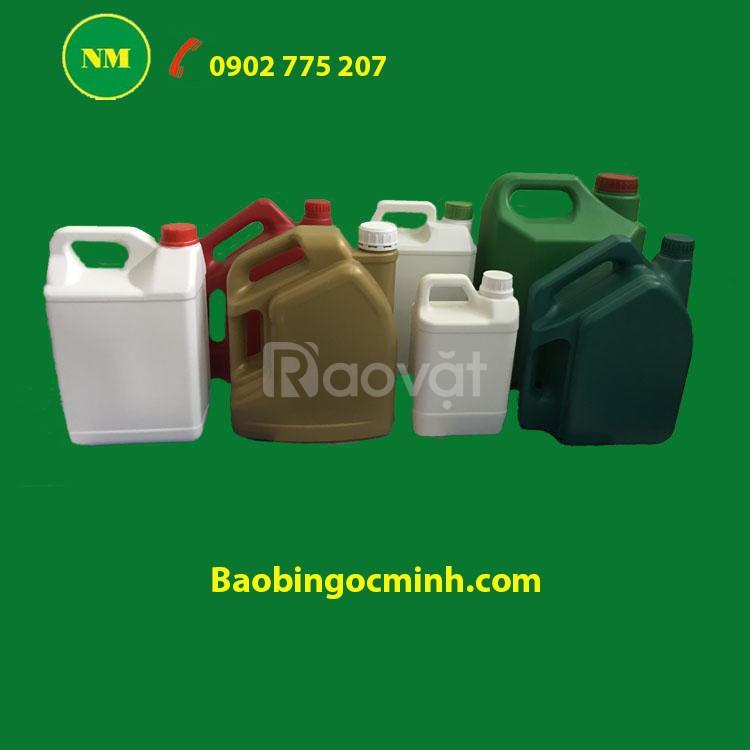 Can nhựa 5 lít, can nhựa hdpe đựng hóa chất, can nhựa đựng chất lỏng.