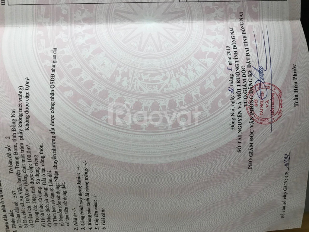 Bán 125m2 đất xã Tóc Tiên - Phú Mỹ - BRVT