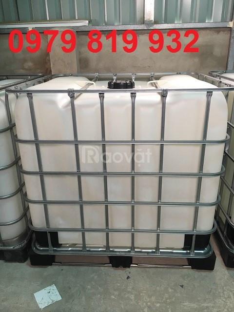 Cung cấp thùng nhựa đựng hóa chất 1000 lít, đựng mỡ cá (ảnh 4)