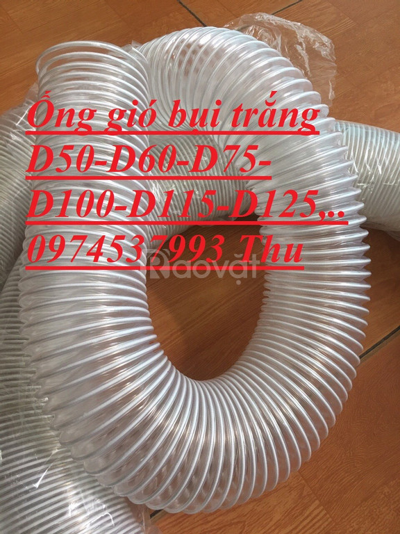 Đặc tính của ống gió bụi trắng-ống hút bụi trấu,..giá rẻ
