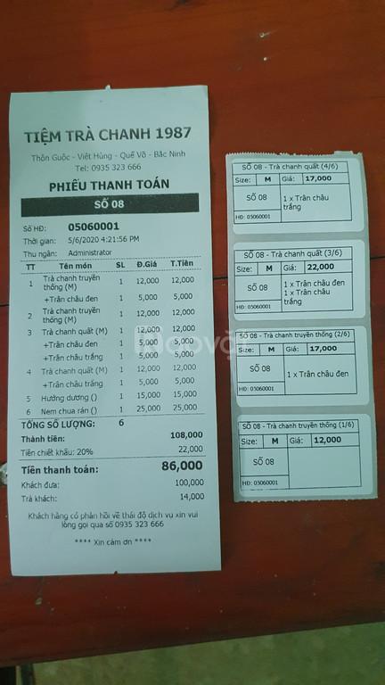 Máy tính tiền cho quán trà chanh tại Bắc Ninh giá rẻ (ảnh 6)