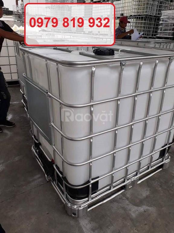 Bồn nhựa 1000 lít mới 100% có khung sắt