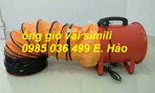 Ống gió vải simili màu cam hút khí D200, D250, D300, D350, D400, D450