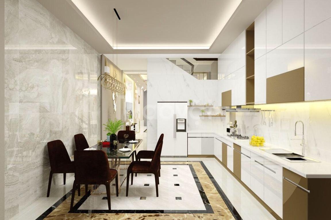 Tủ bếp Acrylic đẹp giá rẻ An Cường